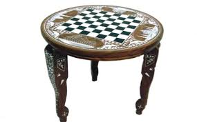 round chess table india sheesham wood chess table