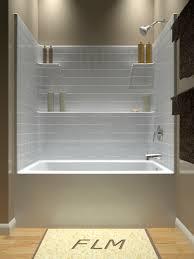 60 w one piece tub shower combo