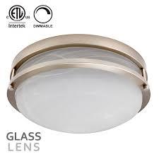led flush mount ceiling light satin nickel main lightbox moreview