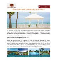 Wedding Planner Ppt Ppt Best Destination Wedding Planner In Goa Powerpoint