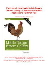 Mobile Design Patterns Book Epub Ebook Downloads Mobile Design Pattern Gallery Ui