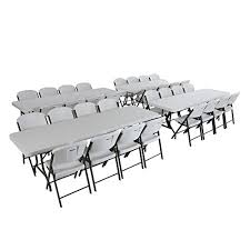 folding table seats 8 com lifetime combo 4 8 banquet table and 32 commercial folding chair