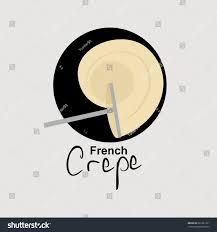 Crepes Logo Design French Crepe Logo Vector Illustration Cafe Logo Coffee