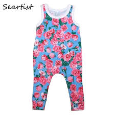 Detail Feedback Questions about <b>Seartist Baby Girls</b> Floral Romper ...