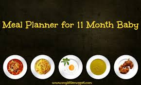 11 Months Baby Meal Planner Free Download My Little Moppet