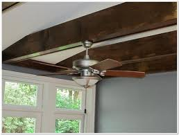 how to install a ceiling fan box on an exposed beam