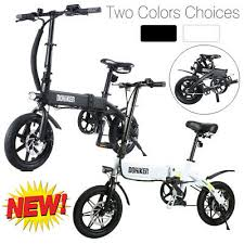 <b>Dohiker Folding Electric Bikes</b> Moped Bicycle E-Bike 250W Motor 14 ...