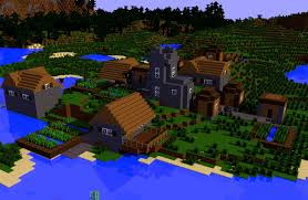 Minecraft Village Seeds Easy Seed For To Spawn In A Village Minecraft Blog