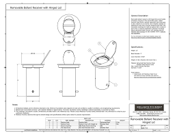 Bollard Foundation Design Removable Bollard Receiver With Hinged Lid Installation Guide