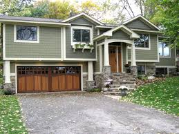 DIY Idea For Old Suitcase Carriage Style Garage Doors Wood - Split level exterior remodel