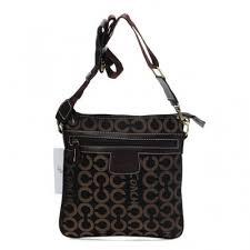 Coach Legacy Swingpack In Signature Medium Coffee Crossbody Bags AWU