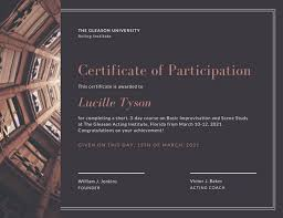 Formal Certificates Customize 119 Participation Certificate Templates Online Canva