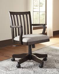 home office desks chairs. townser grayish brown home office swivel desk chair desks chairs r