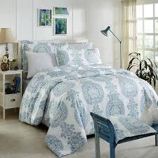 donetella king size cotton geometric pattern blue duvet covers