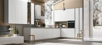 Infinity Kitchen Designs Contemporary Kitchen Wooden L Shaped Infinity Stosa Cucine