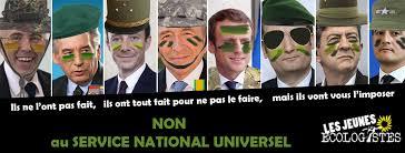 Non au service national universel, militaire et obligatoire ! - Les Jeunes  Écologistes