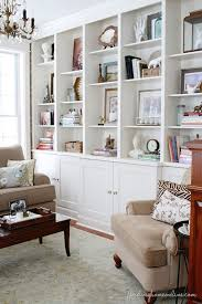 Lessons Learned in Styling a Bookcase. Built In Shelves Living RoomBuilt ...