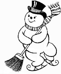 1001 Kleurplaten Seizoen Winter Kleurplaat Sneeuwpop
