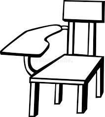 school chair clipart black and white. Beautiful White Chair Clipart Class Chair School Vector Illustration Stock Svg Freeuse  Library For Clipart Black And White G