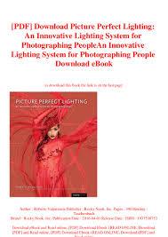 Roberto Valenzuela Picture Perfect Lighting Pdf Pdf Download Picture Perfect Lighting An Innovative