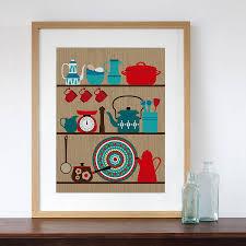Retro Kitchen Wall Decor Similiar Kitchen Art Prints Keywords