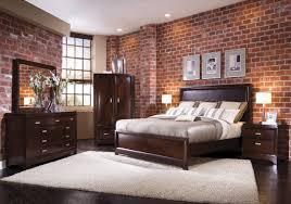 Brick Wallpaper American Traditional Bedroom