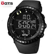 mens digital sports watch ots led digital men outdoor sports waterproof watch climbing wrist watches