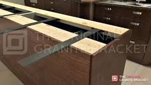 island countertop overhang granite overhang support surprising island bracket the original for home interior kitchen
