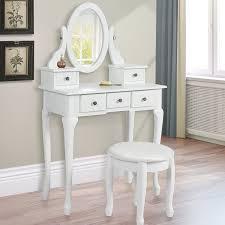 white ideas bedroom vanity with mirror