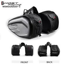 <b>58L Waterproof</b> Motorcycle Saddlebag Leather Moto Knight Helmet ...
