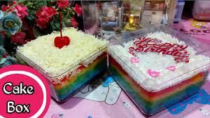 Dengan sapuan krim menteganya yang memakai susu tentu akan menambah rainbow cake. Membuat Rainbow Cake Irit Bahan Tanpa Santan Youtube