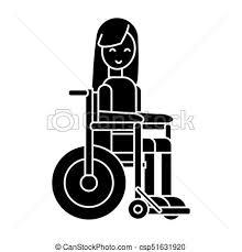 イラスト 車椅子 隔離された 印 不具 ベクトル 背景 アイコン