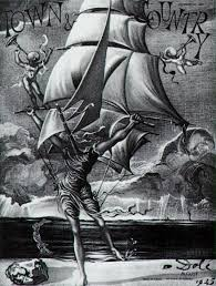 victory woman metamorphosing into a boat with angels salvador dali dali