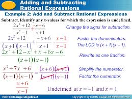 Operations With Rational Expressions Worksheet - Checks Worksheet