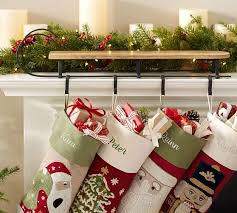 Mantle Sleigh Stocking Holder | Pottery Barn