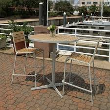 ethos 40 in round teak outdoor bar table