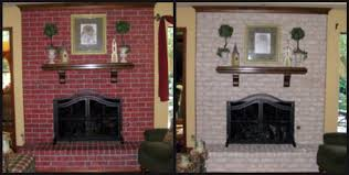 complete brick fireplace makeover before my company arrived in town