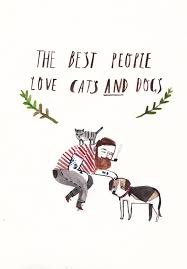 cats and dogs in love drawing.  Cats Cats And Dogs By Dick Vincent Illustration And In Love Drawing T