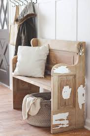 bench made from an old door