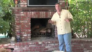 brick outdoor fireplace design