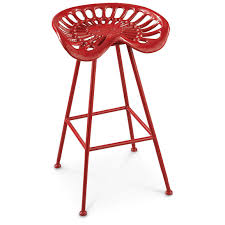 wooden tractor seat bar stools. Bar Stool Furniture Red Metal Tractor Seat Stools With Iron Legs And Tile Flooring Plus Wooden