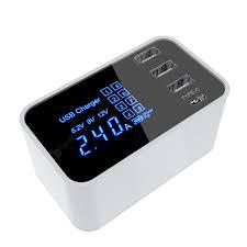 <b>LEEHUR</b> Smart Multi <b>USB</b> Type C Charger Station LED Display ...