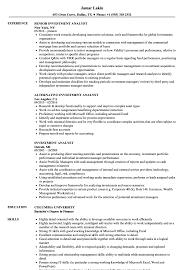 Cfa Candidate Resume Investment Analyst Resume Samples Velvet Jobs 21