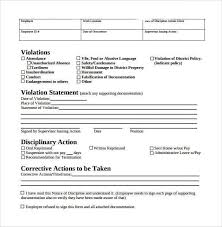 Form To Write Up An Employee Employee Write Up Form 5 Employee Evaluation Form