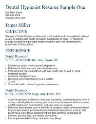 Examples Of Dental Hygiene Resumes Simple Dental Hygienist Resume Sample Shalomhouseus