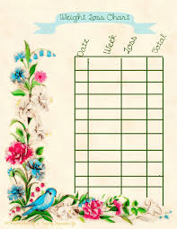 Weight Tracker Chart Printable Printable Weekly Weight Loss Charts Tracking Chart Choice Image Free