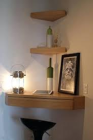 wood corner wall shelf with drawer floating shelves ikea canada