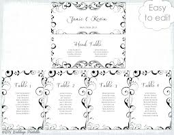 Free Wedding Seating Chart Plate Word For Table Plan Planner Online