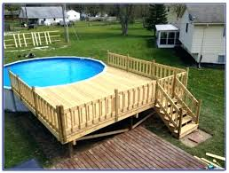 Round Pool Deck Ideas Above Ground Plans Decks Home Decorating G