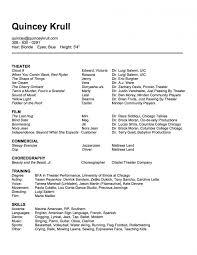 Performance Resume Simple Resume Performing Performance Imposing Templates Testing Template